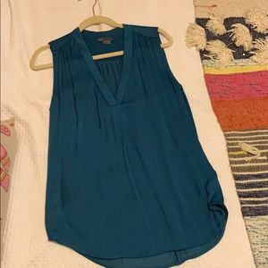 Vince turquoise sleeveless top